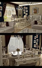 Living Room Design: Classic Decor All White Room Seventies Style - Classic Style  Living Rooms