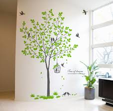 birdcage birds wall decals tree wall decals on removable wall decor stickers with birdcage birds tree wall decals wallstickery