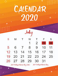 Printable Monthly Calendar July 2020 Free July 2020 Printable Calendar Template In Pdf Excel