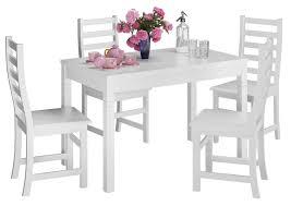 Schöne Essgruppe Mit Tisch Und 4 Stühle Kiefer Massivholz Waschweiß 9070 51 B W Set 21