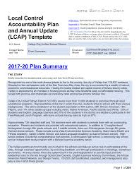 LCAP and Annual Update Template - Local Control Funding Formula (CA Dept of  Education)