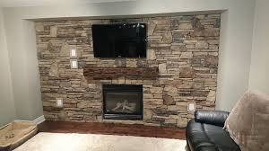 stone veneer blend accent wall