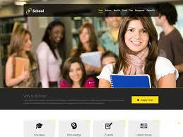College Templates 40 Best Education Html Website Templates Ginva