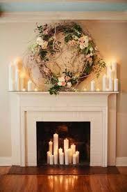 Romantic Candle Fireplace Design