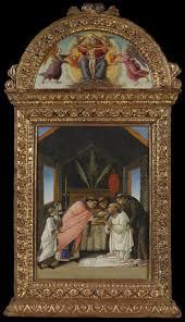 mirror frame the last communion of saint jerome