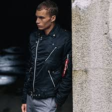 outlaw biker jacket mens by alpha industries non leather