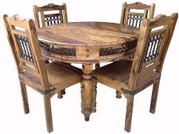 sheesham jali round dining table real wood furniture