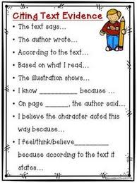 Text Based Evidence Anchor Chart Text Based Evidence Anchor Charts Mr Conners Place