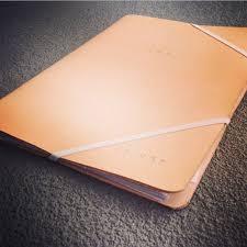image of leather portfolio custom