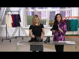 Clarks Leather Ankle Boots Chartli Lilac On Qvc Youtube