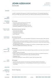 Modern Engineer Resume 012 Software Developer Template Resume Format Professional