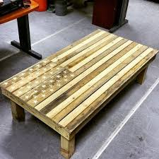 American Flag DIY Pallet Coffee Table