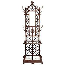 Cast Iron Standing Coat Rack Beauteous Hall Tree With Umbrella Stand Antique Marble Top Hall Tree Coat Rack