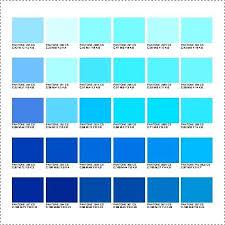 Pantone Color Chart Blue Pantone Color Chart Pdf Template Business