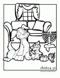 Small Picture Hanukkah Coloring Pages Animals Celebrating Hanukkah Animal Jr