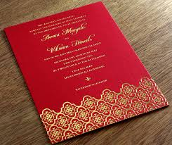colorful wedding invitation designs integrating colors into your Letterpress Wedding Invitations Free Samples indian red and gold foil fusion wedding invitation on red colored paper Free Wedding Invitation Downloads