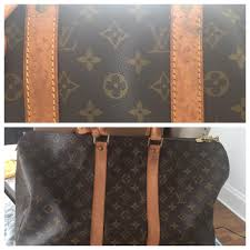i re vintage and damaged louis vuitton this keepall 45 cleaned up beautifully