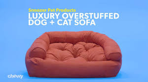 snoozer pet products luxury overstuffed dog cat sofa dark chocolate large chewy com