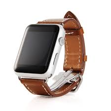 apple watch leather band erly buckle brown