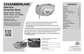 chamberlain hd220 user manual pdf