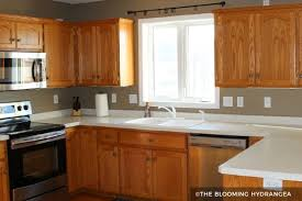 Brown painted kitchen cabinets Cabinets Remodelaholic Wood Cabinets With Taupe Painted Walls Kitchen Cabinet Kings Painting Kitchen Cabinets Before After