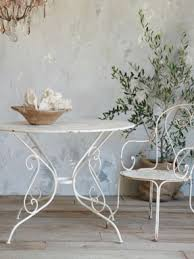 white iron garden furniture. plain garden antique white iron garden table love want to come over for coffee throughout furniture e