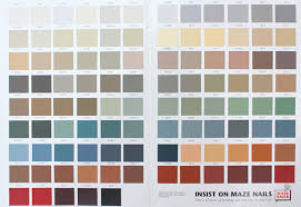 Color Charts For Painted Nail And Trim Colors Maze Nails