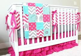 grey and pink crib bedding zoom pink and grey elephant crib bedding canada