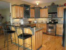 New Kitchen For Small Kitchens Kitchen Room Rectangle Brown Wooden Kitchen Island Plus Black