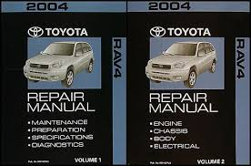 2004 Toyota RAV4 Repair Shop Manual 2 Volume Set Original