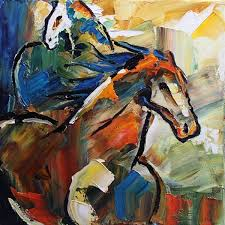 head strong colorful horse painting by texas artist laurie pace by laurie justus pace