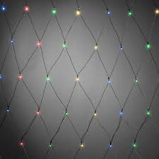 Battery Operated Net Lights With Timer Konstsmide Christmas Battery Operated Net Light 80 Coloured Leds 80cm X 160cm Black Cable Timer Dusk Till Dawn Sensor