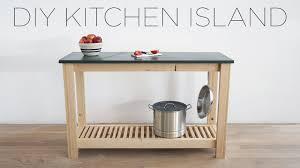 diy kitchen island with slate countertops