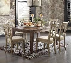 ashley signature design mestler 7 piece table set with antique ashley signature design mestler 7 piece table set with antique white chairs item number