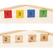 wooden toys multiplication table math figure blocks child kid educational gift