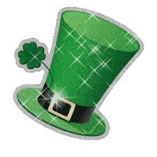 Small Picture Leprechaun Shamrock and pot of gold moving clip art animations