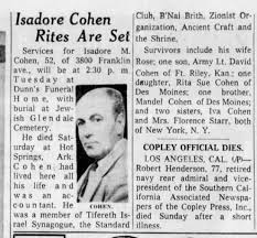 Isadore Cohen dies at 52 - Newspapers.com