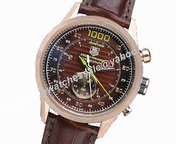 tag heuer carrera mikrotimer flying 1000 brown leather strap replica watch replica magic