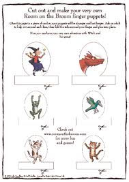 Room On The Broom Finger Puppets Printables Template For