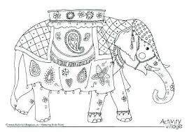 Indian Elephant Coloring Pages Printable For Kids X Adults Pdf