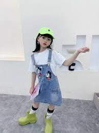 Set yếm váy bò rời Mickey bé gái 6-14 tuổi - Quần, Váy bé gái Thương hiệu  OEM