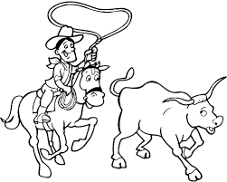 Small Picture Cowboy coloring pages catching a cow ColoringStar
