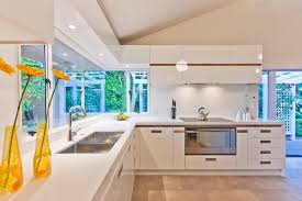 kitchen window lighting. Kitchen Contemporary With Ceiling Lighting Corner Windows. Image By: Mal Corboy Design And Cabinets Window