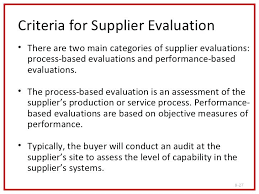 8 Criteria For Supplier Performance Evaluation Template Vendor ...