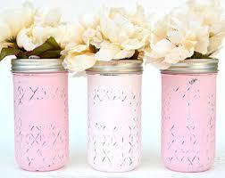 Quilted jelly jars   Etsy & Painted Jars, Mason Jars, Pink Jars, Baby Shower Decor, Mason Jars Bulk Adamdwight.com