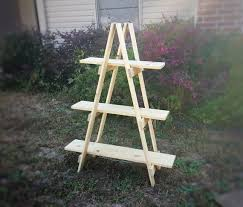 Wooden Ladder Display Stand