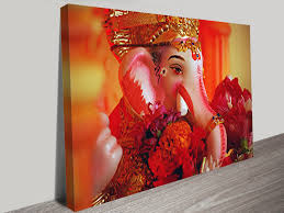 famous wall art canvas intended for ganesh wall art view 5 of 15