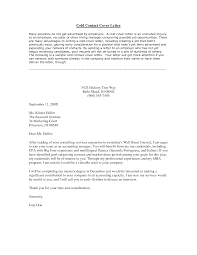 Email Resume Cover Letter cold contact letter Jcmanagementco 72