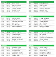 2016 fifa world cup group se schedule