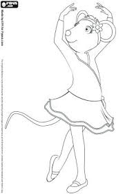 Small Picture Angelina Ballerina Coloring Pages Free Colouring Kids Travel More